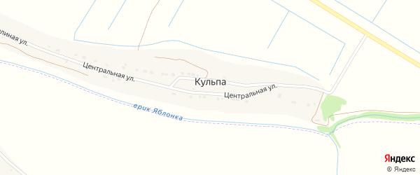 Садовая улица на карте поселка Кульпа Астраханской области с номерами домов
