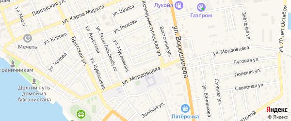 Новая улица на карте села Красного Яра Астраханской области с номерами домов