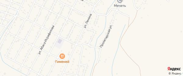 Улица Терешкова на карте села Магарамкента Дагестана с номерами домов