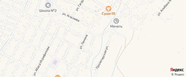 Улица Дахадаева на карте села Магарамкента Дагестана с номерами домов