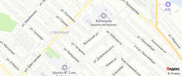Волжская улица на карте Волжска с номерами домов