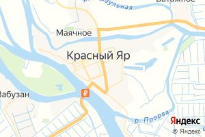 Карта с. Красный Яр Астраханская область