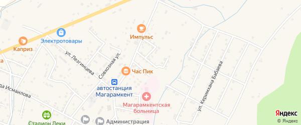 Улица Валентина Эмирова на карте села Магарамкента Дагестана с номерами домов