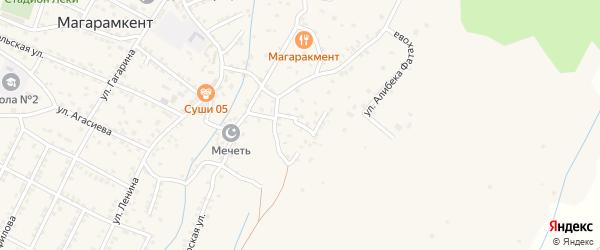Улица Кирова на карте села Магарамкента Дагестана с номерами домов
