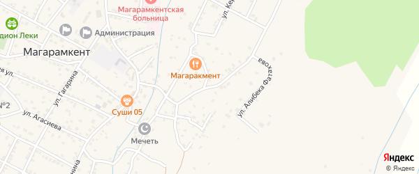 Октябрьская улица на карте села Магарамкента Дагестана с номерами домов