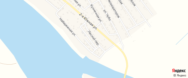 Лесной переулок на карте села Красного Яра Астраханской области с номерами домов