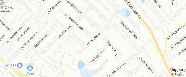 Улица Баумана на карте Волжска с номерами домов