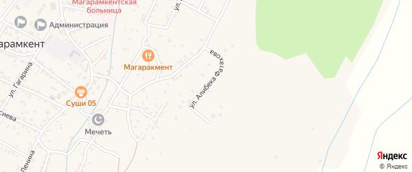 Улица Нурдина Ферхатова на карте села Магарамкента Дагестана с номерами домов