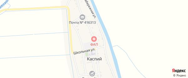 Советская улица на карте Каспия поселка Астраханской области с номерами домов