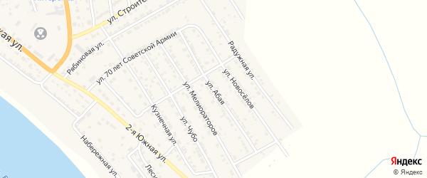 Абая улица на карте села Красного Яра Астраханской области с номерами домов