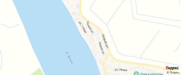 1 Мая улица на карте села Черемухи Астраханской области с номерами домов