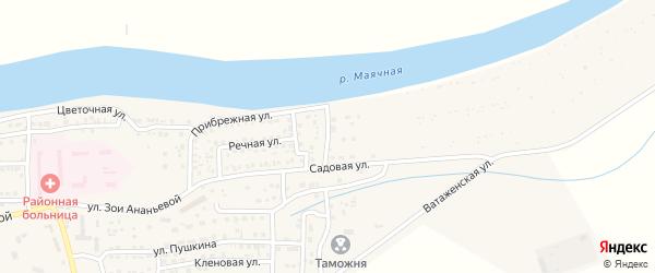 Васильковая улица на карте села Красного Яра Астраханской области с номерами домов