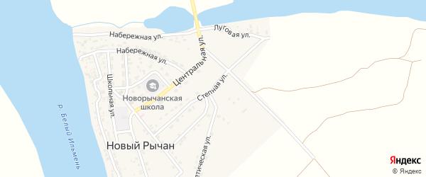 Степная улица на карте села Нового Рычан с номерами домов