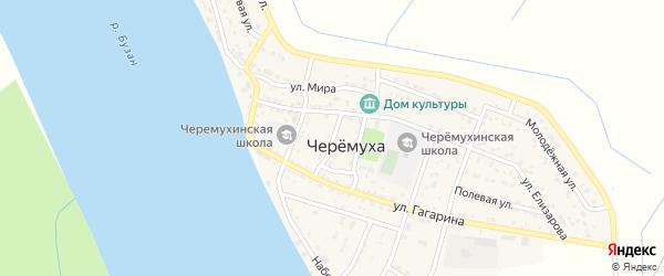 Улица Новоселов на карте села Черемухи Астраханской области с номерами домов