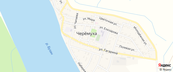Улица А.В.Петрова на карте села Черемухи Астраханской области с номерами домов