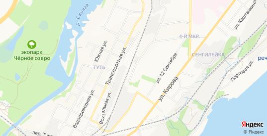 Карта железнодорожной будки 194 км в Ульяновске с улицами, домами и почтовыми отделениями со спутника онлайн