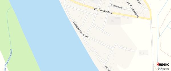 Набережная улица на карте села Черемухи Астраханской области с номерами домов