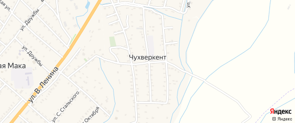 Улица Т.Тагирова на карте села Чухверкента Дагестана с номерами домов