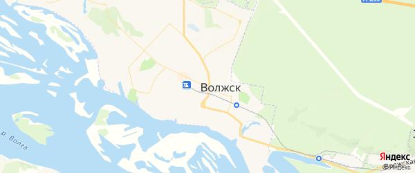 Карта Волжска с районами, улицами и номерами домов: Волжск на карте России