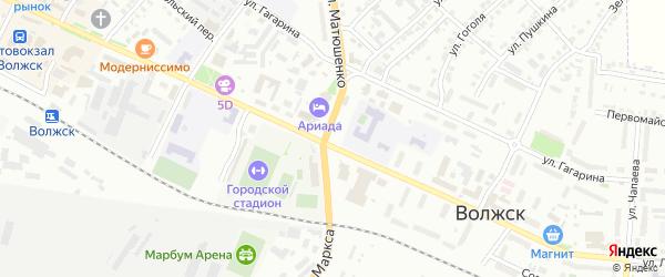 Железнодорожная улица на карте Волжска с номерами домов