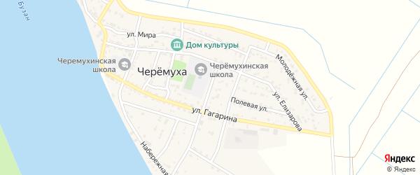 Школьная улица на карте села Черемухи Астраханской области с номерами домов