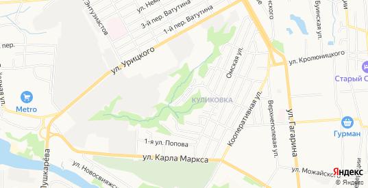 Карта микрорайона 1 Западный Пригород в Ульяновске с улицами, домами и почтовыми отделениями со спутника онлайн