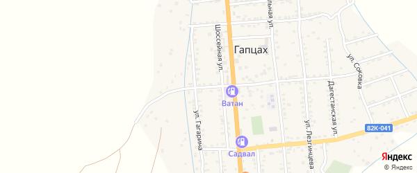 Улица Максима Горького на карте села Гапцаха Дагестана с номерами домов