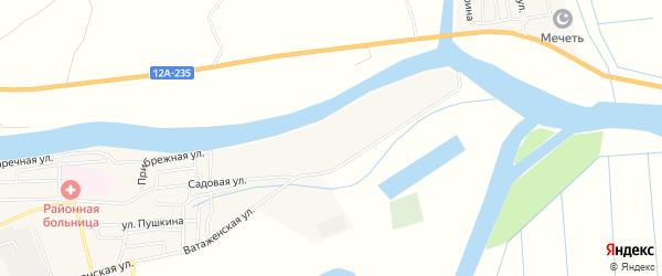 Садовое товарищество сдт Яблонька на карте села Красного Яра Астраханской области с номерами домов