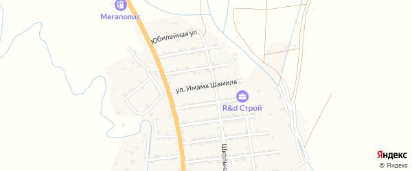 Улица Имама Шамиля на карте села Гапцаха Дагестана с номерами домов