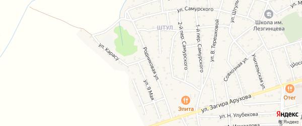 Родниковая улица на карте поселка Белиджи с номерами домов