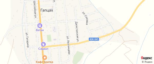 Дагестанская улица на карте села Гапцаха Дагестана с номерами домов