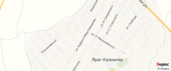 Улица Кудрата Абдулкадырова на карте села Ярага-Казмаляра Дагестана с номерами домов