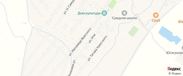 Улица Иче на карте села Ярага-Казмаляра Дагестана с номерами домов
