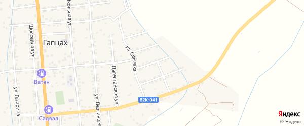 Улица Дзержинского на карте села Гапцаха Дагестана с номерами домов