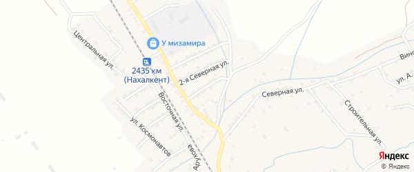 Северная 1-я улица на карте поселка Белиджи с номерами домов