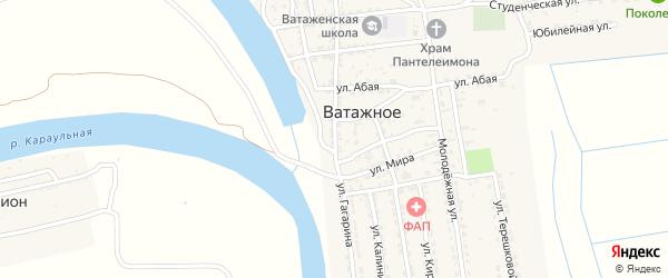 Улица Гагарина на карте Ватажного села Астраханской области с номерами домов