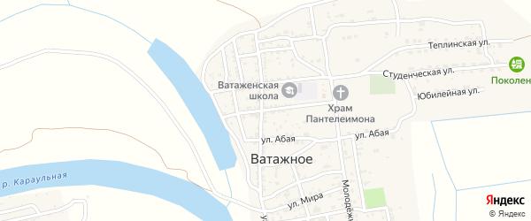 Улица Комарова на карте Ватажного села Астраханской области с номерами домов