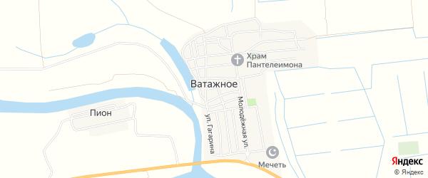 Карта Ватажного села в Астраханской области с улицами и номерами домов