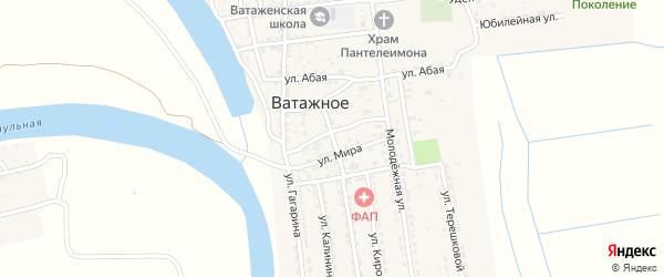 Тихий переулок на карте Ватажного села Астраханской области с номерами домов