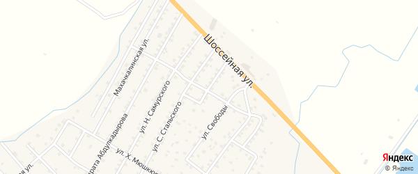 Улица Лезгинцева на карте села Ярага-Казмаляра Дагестана с номерами домов