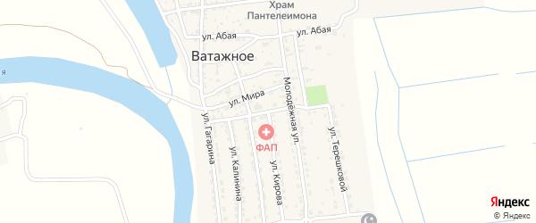 Улица Победы на карте Ватажного села с номерами домов