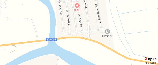 Красноярская улица на карте Ватажного села Астраханской области с номерами домов