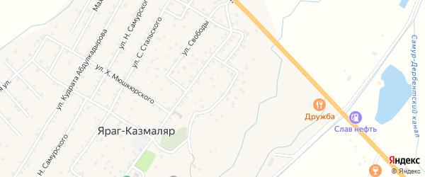 Улица Абаса Исрафилова на карте села Газарда-Казмаляра Дагестана с номерами домов