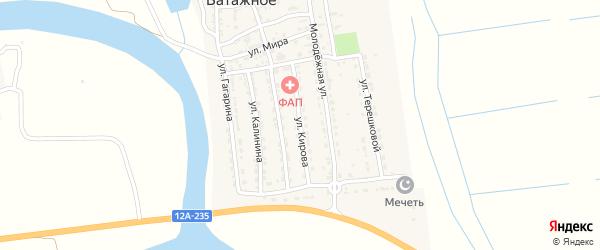 Улица Кирова на карте Ватажного села Астраханской области с номерами домов