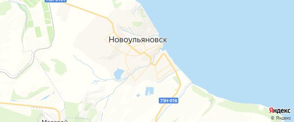 Карта Новоульяновска с районами, улицами и номерами домов