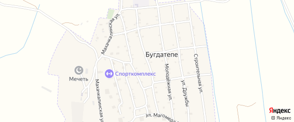 Улица Хаджи Давуда на карте села Бугды-Тепе Дагестана с номерами домов