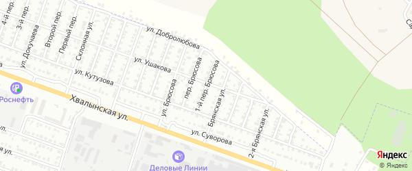 Брюсова 1-я улица на карте Сызрани с номерами домов