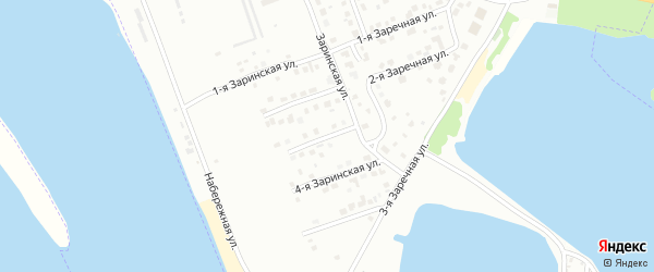3-я Заринская улица на карте Волжска с номерами домов