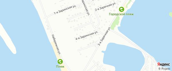 4-я Заринская улица на карте Волжска с номерами домов