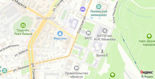 Улица Лаптева в Ульяновске с номерами домов на карте. Спутник и схема онлайн